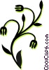 decorative floral design Vector Clip Art picture