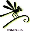 dragon fly Vector Clipart image