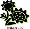 sunflowers Vector Clipart illustration