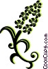 decorative floral design Vector Clipart graphic