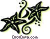 Vector Clip Art image  of a star fish