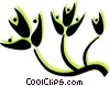 Vector Clip Art image  of a decorative floral design