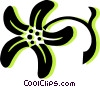 Vector Clipart graphic  of a decorative floral design