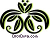 decorative floral design Vector Clip Art image