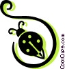 Vector Clip Art graphic  of a lady bug