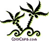 weeds Vector Clipart picture