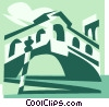 Vector Clip Art image  of a Rialto bridge