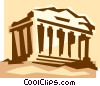 Acropolis in Athens Greece Vector Clipart illustration