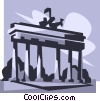 Vector Clip Art image  of a Brandenburg Gate