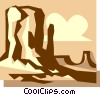 Vector Clipart graphic  of a rock formations found in the