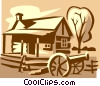 house with a canon Vector Clip Art image