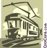 Vector Clipart graphic  of a electric streetcar