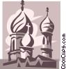 Vector Clipart image  of a religious temple