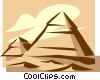 Vector Clipart picture  of a Egyptian pyramids