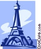 Vector Clipart picture  of a Eiffel tower France