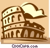 Vector Clipart illustration  of a coliseum in Rome Italy