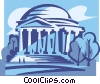 Vector Clip Art graphic  of a Jefferson Memorial