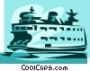 Ferryboat Vector Clipart picture