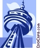 Vector Clipart illustration  of a CN Tower