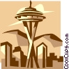 Seattle Space Needle Vector Clip Art image