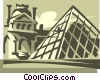 Vector Clipart image  of a Paris