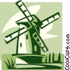 Vector Clipart graphic  of a Dutch Windmill