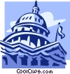 Vector Clipart image  of a Capitol building in Washington