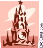 clock towers Vector Clipart image