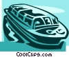 Vector Clip Art image  of a sightseeing boats