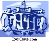 The White House Vector Clipart picture