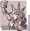 Vector Clip Art image  of a Statue of Liberty