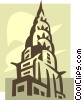 Vector Clip Art image  of a Chrysler Building New York
