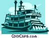 riverboats Vector Clipart graphic