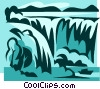 waterfalls Vector Clip Art graphic