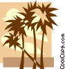 Vector Clip Art graphic  of a palm trees