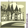 European castle Vector Clipart image