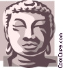 Vector Clip Art graphic  of an Asian statue