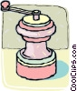 Vector Clip Art picture  of a Pepper mill