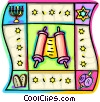 Vector Clip Art graphic  of a Torah or Scrolls
