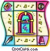 Vector Clipart graphic  of a Jukeboxes