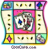 Playing Cards Vector Clipart graphic