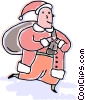Vector Clipart picture  of a Santa Claus