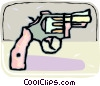 Hand gun Vector Clipart graphic