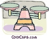Vector Clip Art graphic  of a Medical scale