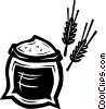 Vector Clipart graphic  of a flour