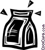 Vector Clip Art image  of a lunch bag