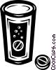 Vector Clip Art graphic  of a medicine