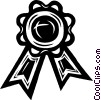Vector Clip Art image  of an award