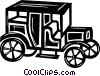 vintage automobile Vector Clipart illustration