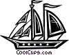 Vector Clip Art graphic  of a tall ship